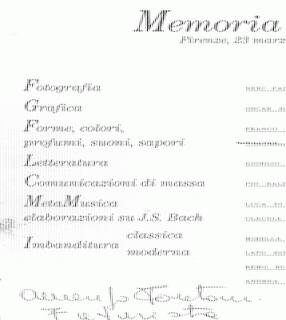 Brochure, dettaglio
